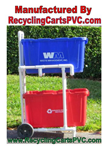 Recycling Cart  Florida Weather Proof - Won't Rust - Stur...
