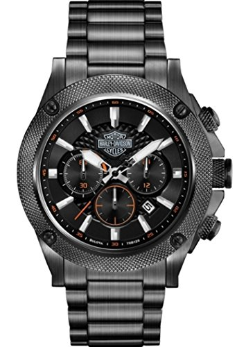 Harley-Davidson Men's Stainless Steel Chronograph Bracelet Watch. 78B127