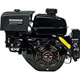 XtremepowerUS Electric Start 7 HP Go Kart Gas Engine Log Splitter Recoil/Electric Start Engine Gas Power Gasoline OHV Motor, Black