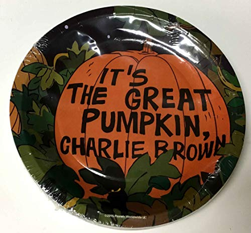 Peanuts Halloween Paper Plates Dessert Size 'Its the Great Pumpkin, Charlie Brown' -