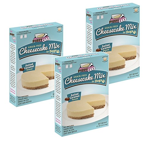 Puppy Cake Cheesecake Mix (Grain-Free) - Salted Caramel 11oz (3 Pack)