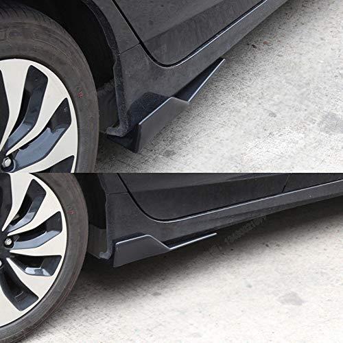 FidgetKute Car Side Skirts Splitters Winglet Extension Flat Bottom Lip Wings Kit