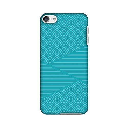 AMZER Slim Designer Snap On Hard Shell Case Back Cover with Screen Care Kit for iPod Touch 6th Gen - Carbon Fibre Redux Aqua Blue 6