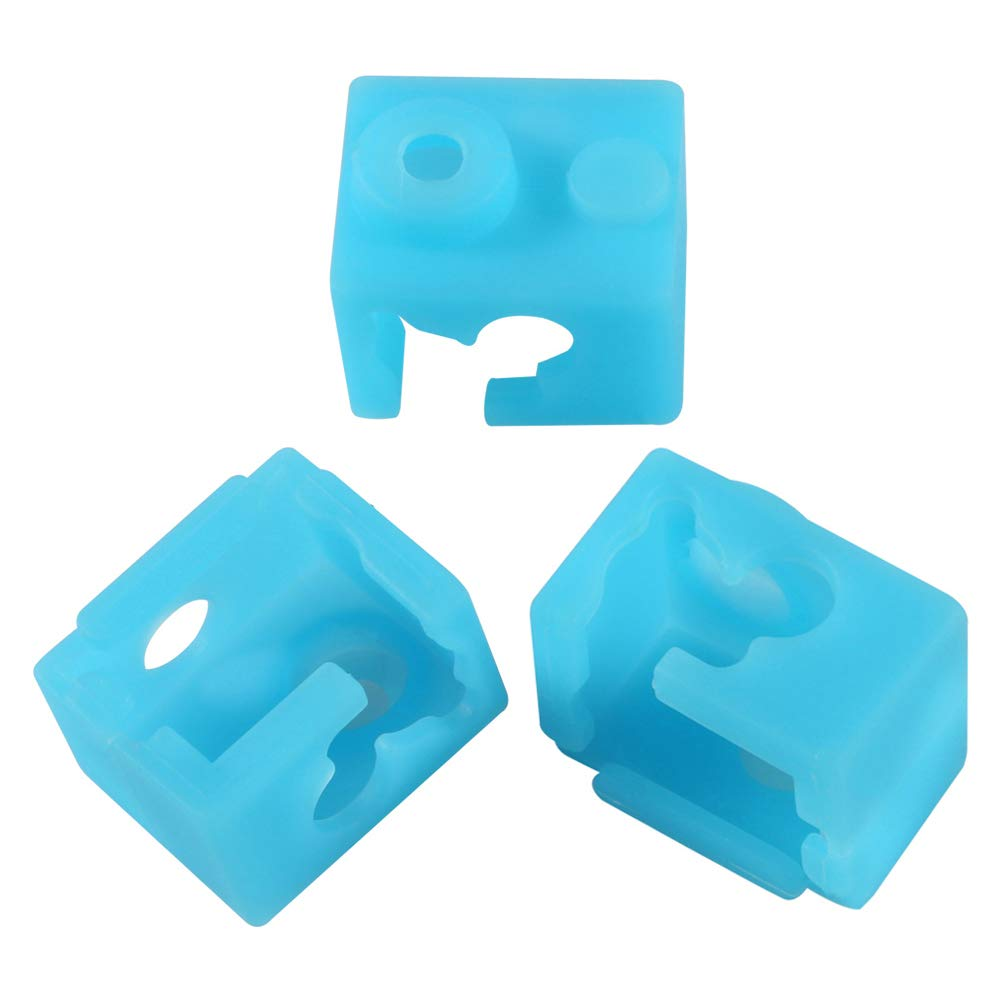 Good Stability High Temperature Resistance Pink 10Pcs Sock Covers E3D-V6 Protector Heater Block Case for 3D Printer Extruder