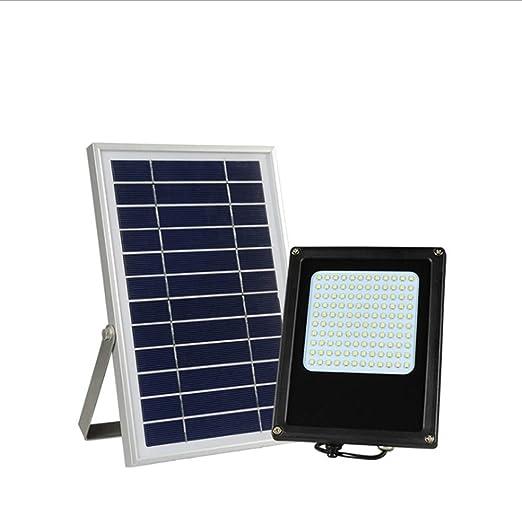 WFTD Luz Solar De Inundación, 120 LED Seguridad Exterior Pared Luz ...