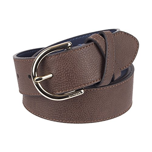 "Tommy Hilfiger Women's 1.5"" Center Stitch Belt With X Loop Accessory, -brown, Extra Small"