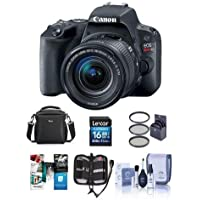 Canon EOS Rebel SL2 DSLR with EF-S 18-55mm f/4-5.6 IS STM Lens - Bundle With 16GB SDHC Card, Camera Case, 58mm Filter Kit, Cleaning Kit, Memory Wallet, Software Package