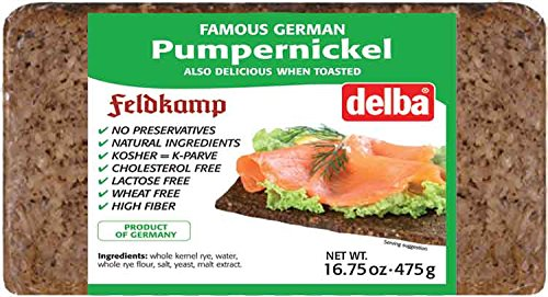Delba Famous German Pumpernickel Bread, 16.75 Ounce (Pack of 12)