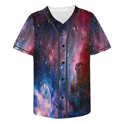 INTERESTPRINT Men's Lightweight Short-Sleeve T-Shirt with Print Carina Nebula in Infrared Light 2XL