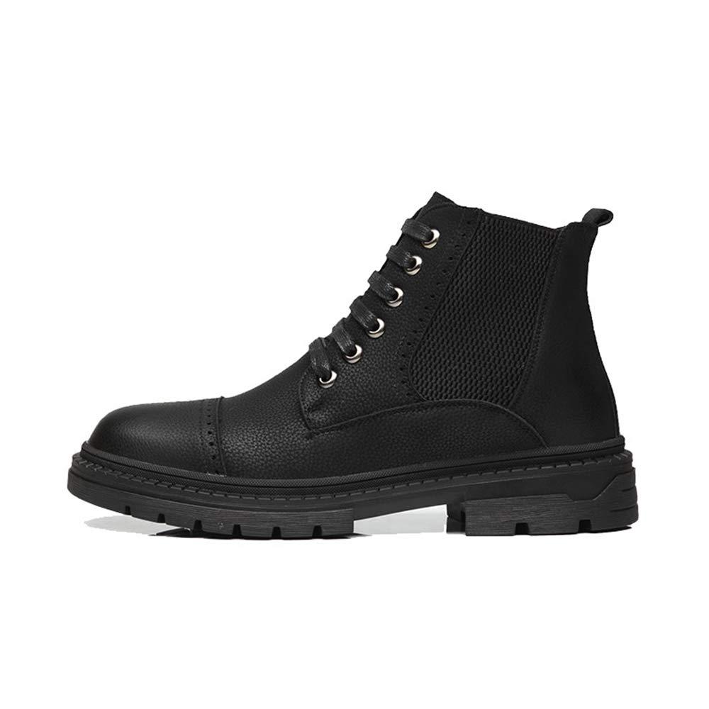 XHD-Schuhe 2018 Herren Modische Stiefeletten Casual Komfortable High Top Flache Flache Top Ferse Klassische Freizeit Stiefel (Farbe   Schwarz, Größe   39 EU) 69ed47