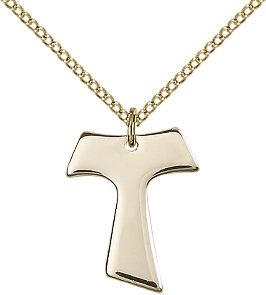 14kt Gold Filled Cross Pendant with 18 Gold Filled Lite Curb Chain.