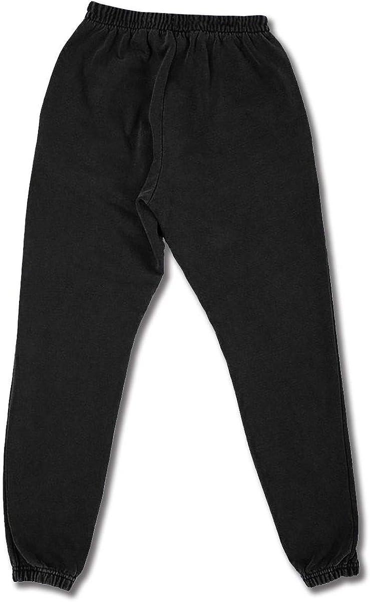Persimmon Wind Year Naruto Unisex Mens Sweatpants Joggers Adjustable Drawstring Pockets Sportswear Black