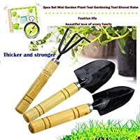 Tool Sets Kids Toy Mini Garden Plant Tools 3pcs Spade Shovels Rakes Gardening Gifts