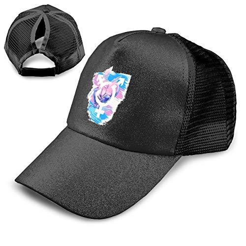 (OVLSDD Sequins Ponytail Hat Transgender Pride Bisexual Dragon Cap Men Women Daily Wear Hip Hop Hat)