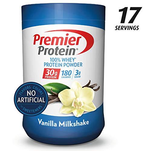 Premier Protein Whey Protein Powder, Vanilla, 23.3 oz