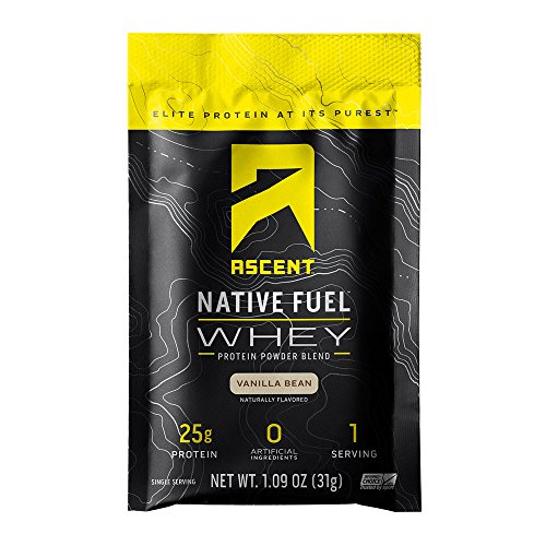 Ascent Native Fuel Whey Protein Powder - Vanilla Bean - 15 Single Serving Packets ()