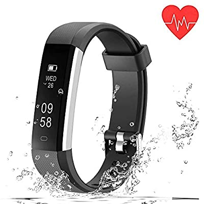 Fitness Watch, Heart Rate Monitor Fitness Tracker, Waterproof Activity Tracker Smart Bracelet with Pedometer Sleep Monitor Compatible with Android iOS Smartphone…