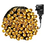 Yasolote Plug in Fairy Lights with Adapter, 13m 100 LED 8 Twinkling Modes Indoor String Lights, Decorative Christmas Lights for Gazebo, Patio, Xmas Tree, Fence, Wedding, Party Ornament (Warm White)