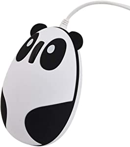 Novelty Cute Animal Panda Shape USB Wired Mouse 3D Optical Mice Mini Small Mouse for Desktop PC Laptop Computer for Women Kids Girls,1200DPI 3 Buttons with 4.6 Feet Cord