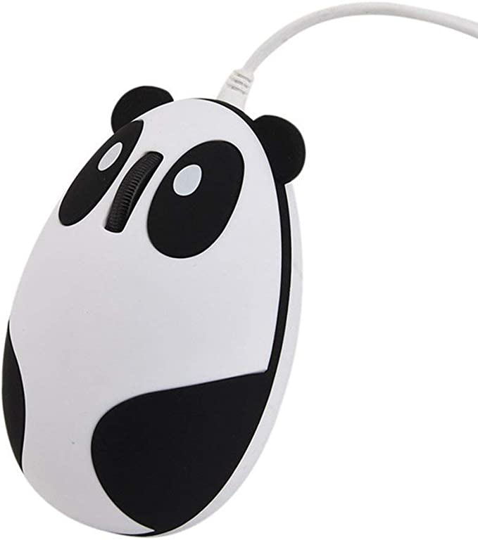 3D Cute Cartoon USB Wired Mouse 1000DPI Optical Mouse for Laptop PC Notebook