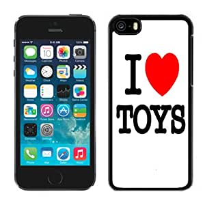 NEW Fashion Custom Designed Cover Case For iPhone 6 Plus 5.5 Inch I Love Toys Black Phone Case