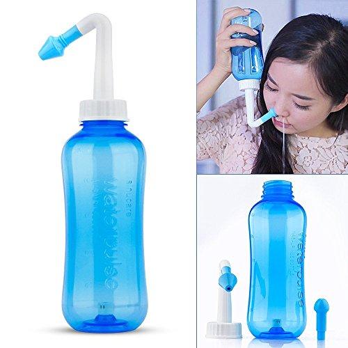 - LS-Nasal Nose Wash Bottle Nasal Cleanse 10oz 500 Nose Cleaner Clean Irrigator Allergies Relief Pressure Rinse Neti Pot Cleanser Irrigation Nasal Cleansing Washer Sneezer Washing