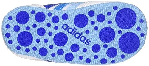 adidas Kinder-Unisex V Jog Crib Turnschuhe Bianco (Ftwbla/Azul/Azusol)