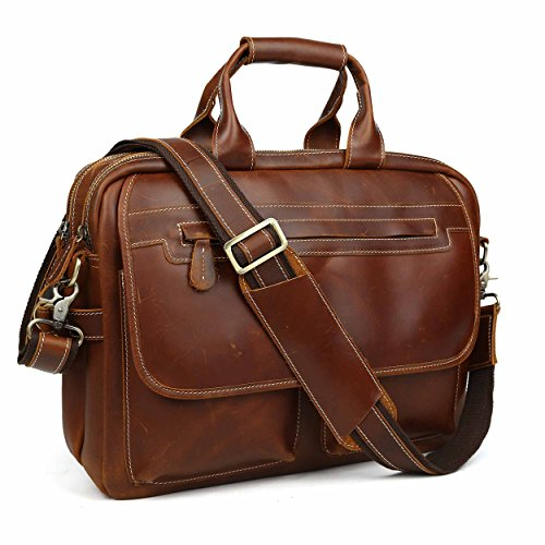 Executive Brief Bag (Leather Briefcase Tote Portfolio Brief Case Messenger Shoulder Bag Handbag Fit 14