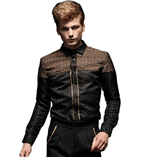 Flanelle Fashion Fanzhuan Noire Luxe Chemise Homme Casual Uqww8xFaB
