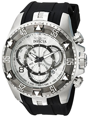 Invicta Men's Excursion Titanium Quartz Watch with Silicone Strap, Black, 26 (Model: 24272) ()