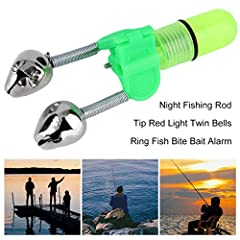 Features:100% Brand New and High Quality.Easy to clip on your fishing rodWith twin bells bite alarm, the small bells will ring when fish rises to a baitWater resistant, so can be used in rainGreat for professional and occasional fis...