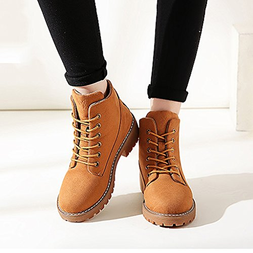 Women 's Martin boots autumn students personality fashion short boots ( Color : Brown , Size : US:6UK:5EUR:37 ) by LI SHI XIANG SHOP (Image #2)