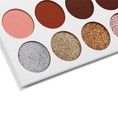 Eyeshadow Makeup Palette, 5 Glitter and 5 Matte Eye Shadows - Mineral Pressed Glitter and Warm Natural Eye Shadow Powder - Highly Pigmented Makeup Palette with Makeup Mirror (Limited Edition)