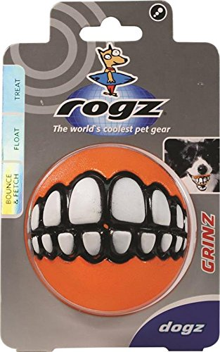Rogz Grinz 3′ Dog Treat Ball, Large