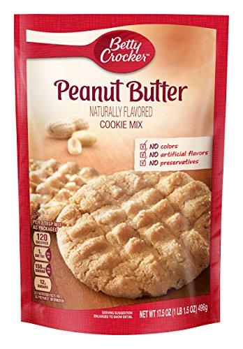 - Betty Crocker Baking Mix, Peanut Butter Cookie Mix, 17.5 oz Pouch (Pack of 12)