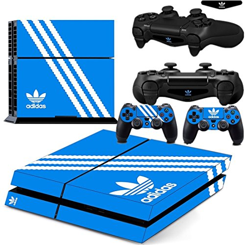 Ambur® PS4 Console Designer Skin for Sony PlayStation 4 System plus Two(2) Decals for: PS4 Dualshock Controller --- Adidas Originals Logo (Dragon Ball Z Vita)