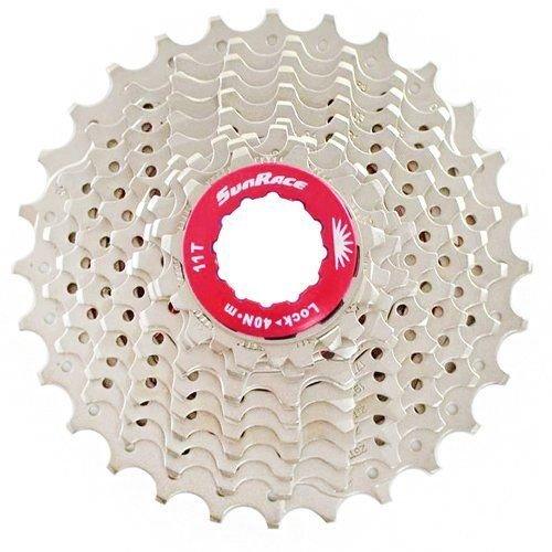 SunRace CSRX1 11 Speed Road Bike Cassette 11-28T, Silver #ST1566