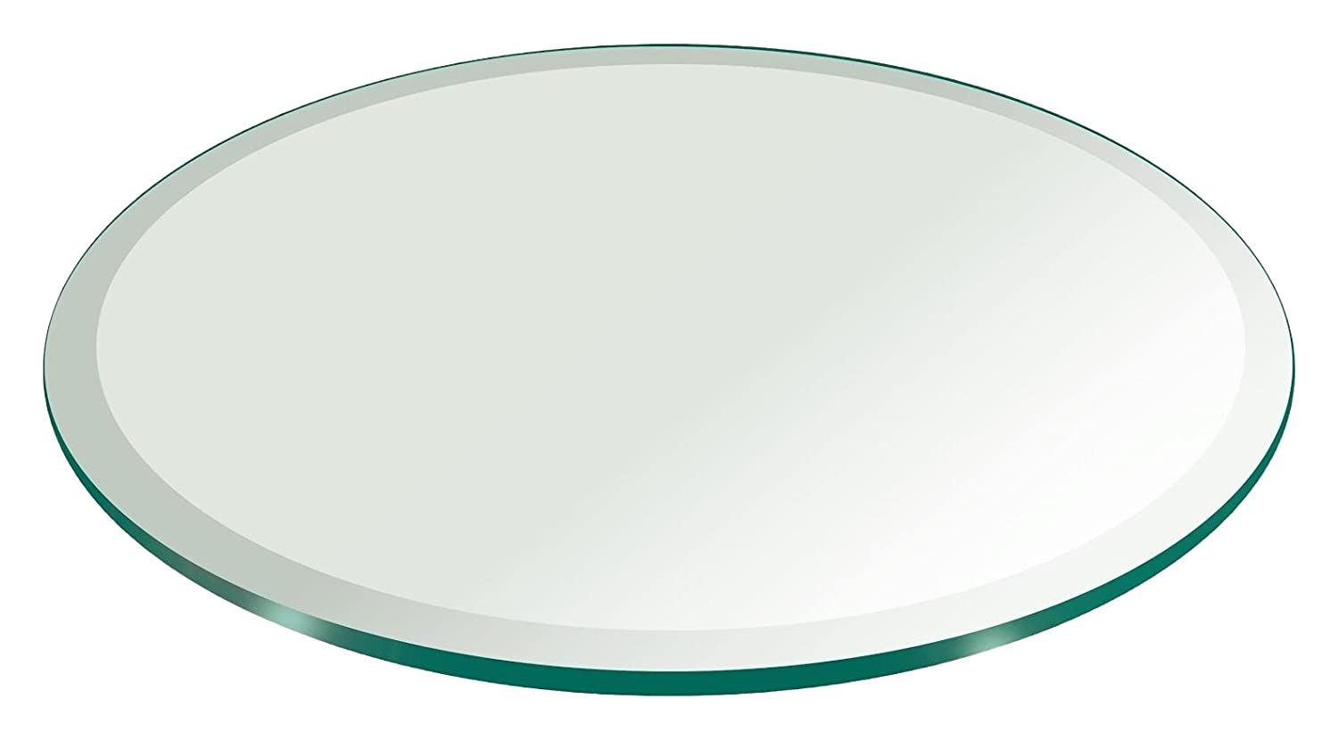 Round glass table tops - Amazon Com 24 Inch Round Glass Table Top 1 4 Thick Tempered Beveled Edge By Fab Glass And Mirror Home Kitchen