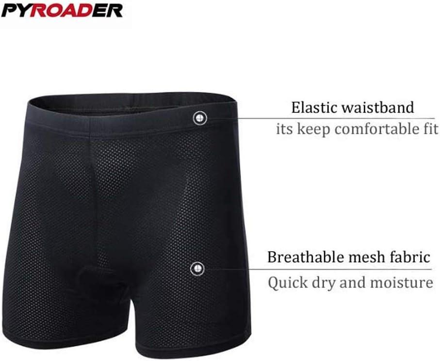 PYROADER/® Uomo Pantaloncini da Ciclismo 3D Imbottito Bicicletta Pantaloni Asciugatura Veloce Traspirante Bicycle Equitazione Biancheria Intima MXL