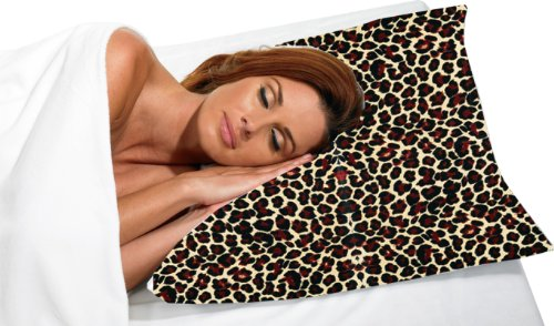 Satin Dain Pillowcase Betty (Betty Dain Satin Pillowcase, Standard, Leopard Print)