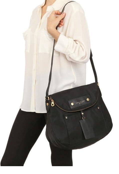 a2ce9b3a8 Marc By Marc Jacobs Large Preppy Nylon Sasha Crossbody Bag, Black:  Amazon.ca: Shoes & Handbags