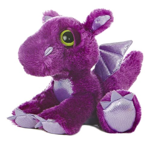 Aurora World Dreamy Eyes Plush Flame Purple Dragon, 10