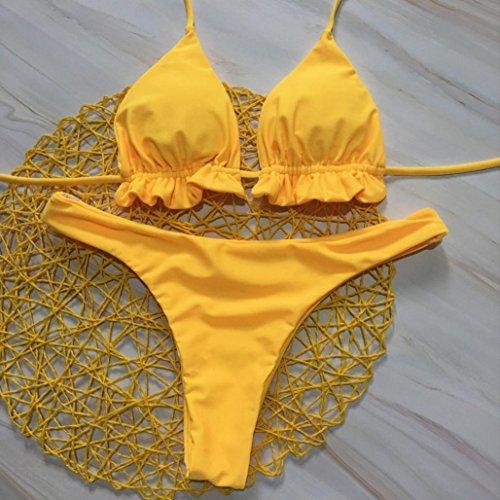 set sexy bagno imbottito Costume push Donna up M Mare Piscina spiaggia reggiseno Donne Bikini Halter Halter Due costumi Donne Beachwear costume da Bikini Sportivi Styledresser Pezzi qIP8wdxy