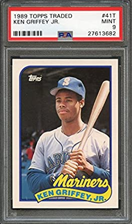 5229442077 Image Unavailable. Image not available for. Color: Ken Griffey Jr. Graded  PSA 9 MINT ...