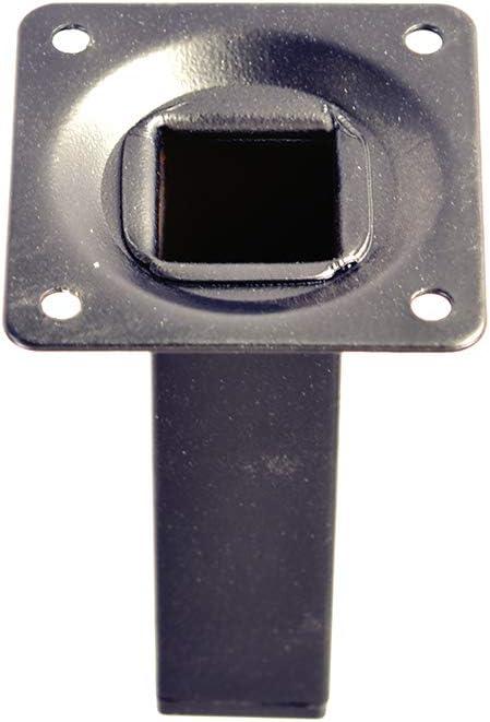 Pata pie cuadrada para Mueble en acero 25x25mm altura 100mm cromo con regulador Nivelador de 15-25mm 4 un