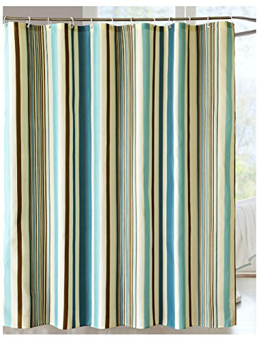 beige and blue shower curtain - 6