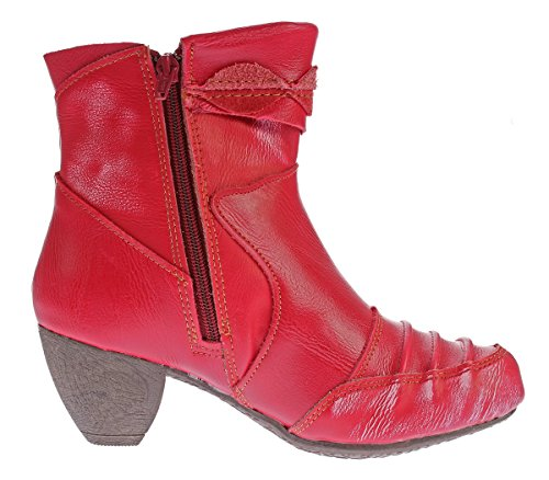 Caño Mujer Rojo Botines Bajo Tma De 1FqEx7f