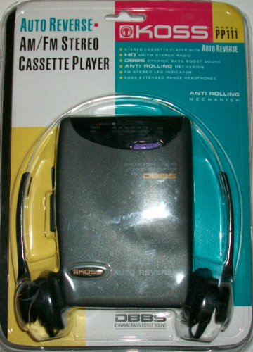 Koss PP111 Personal Portable Cassette Player with Auto reverse and AM/FM Stereo - Koss Radio