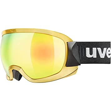 Uvex Adultos Contest FM Chrome Gafas de esquí, Yellow, One Size