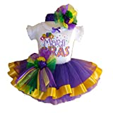 Southern Wrag Company USA Baby Girls Mardi Gras Tutu Set Party Design (12 Months)
